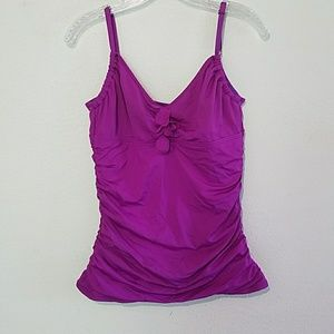 Kenneth Cole Tankini and skirted bottom. Slimming!